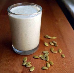 Тыквенные семена с молоком