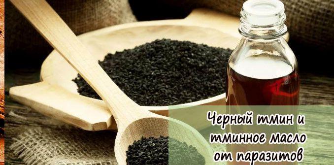 Черный тмин и тминое масло от парзитов